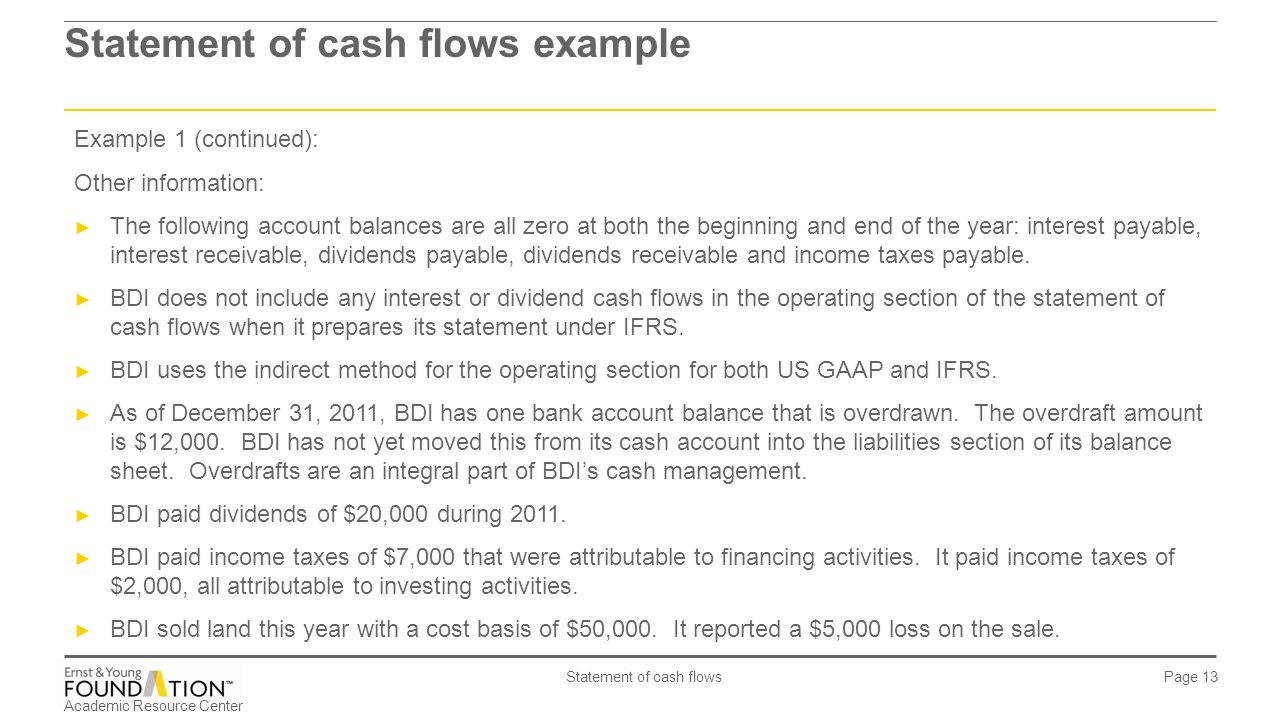 IAS 7 - Statement of cash flows - ppt video online download