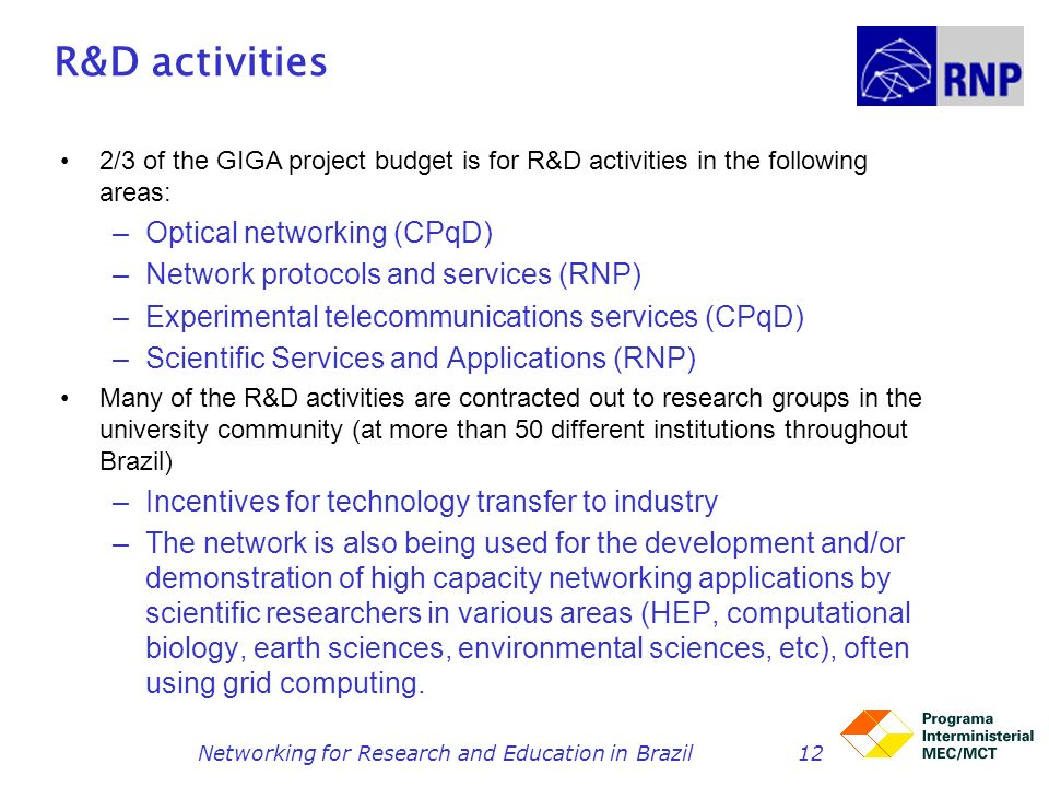 Networking for Research and Education in Brazil