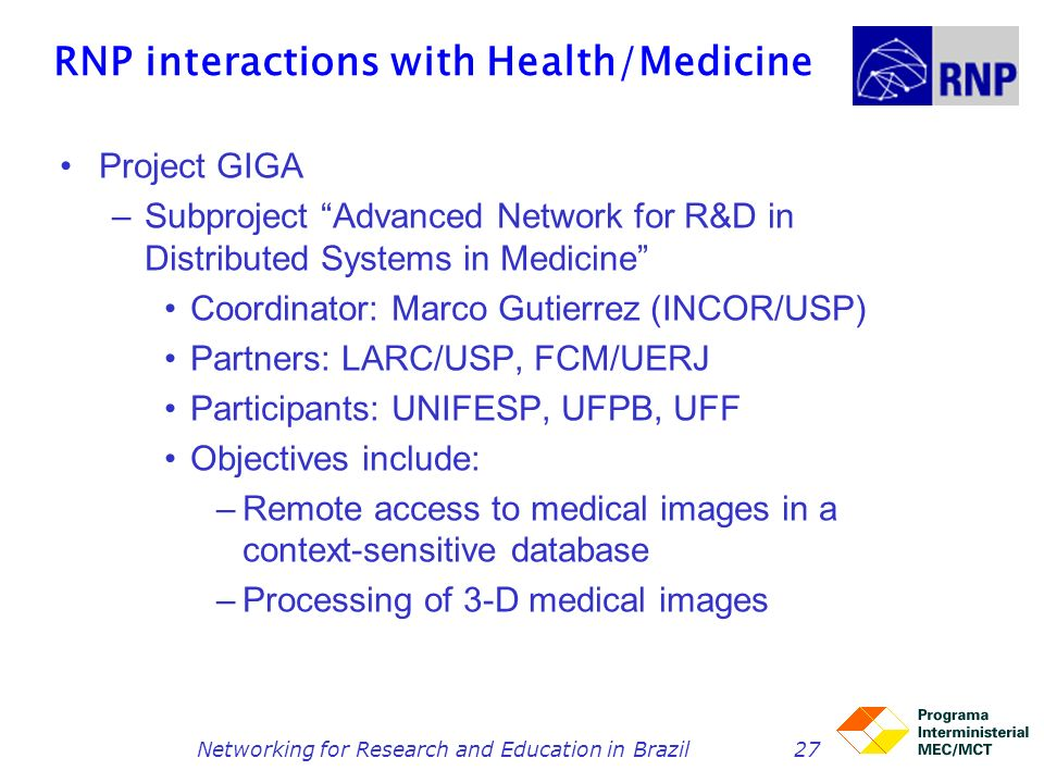 RNP interactions with Health/Medicine