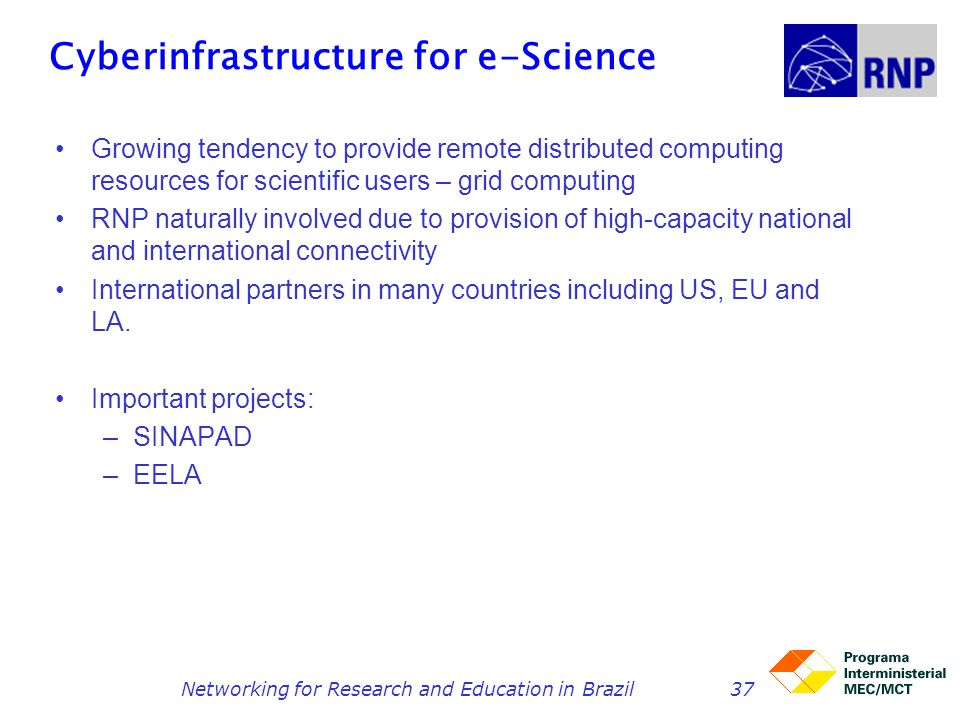 Cyberinfrastructure for e-Science
