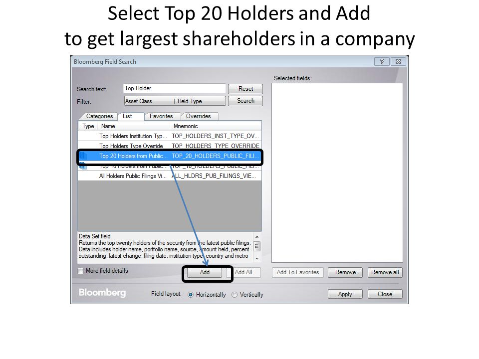how to get list of shareholders of a company