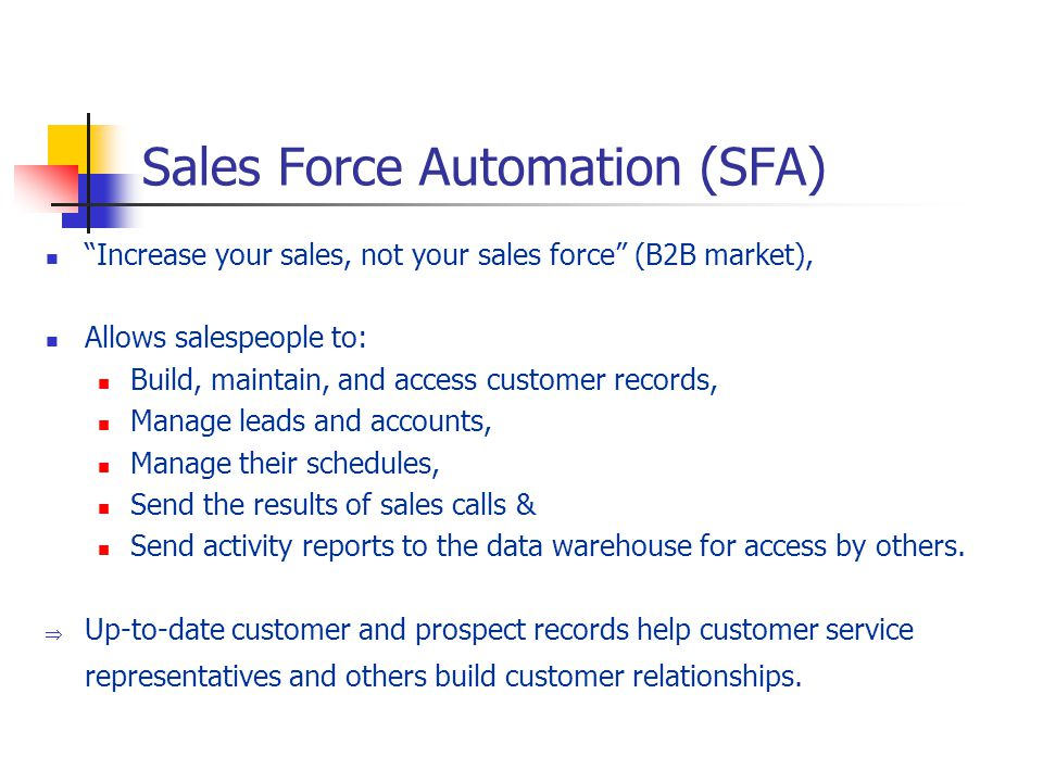 PPT – Sales Force Automation PowerPoint presentation ...