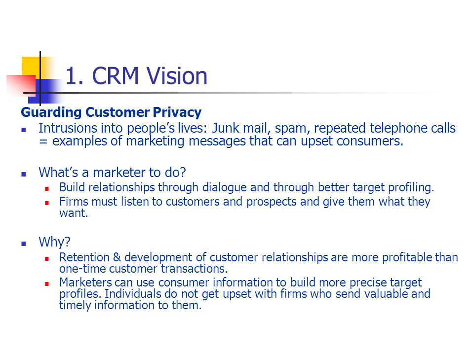 incorporating privacy into marketing and customer relationship management