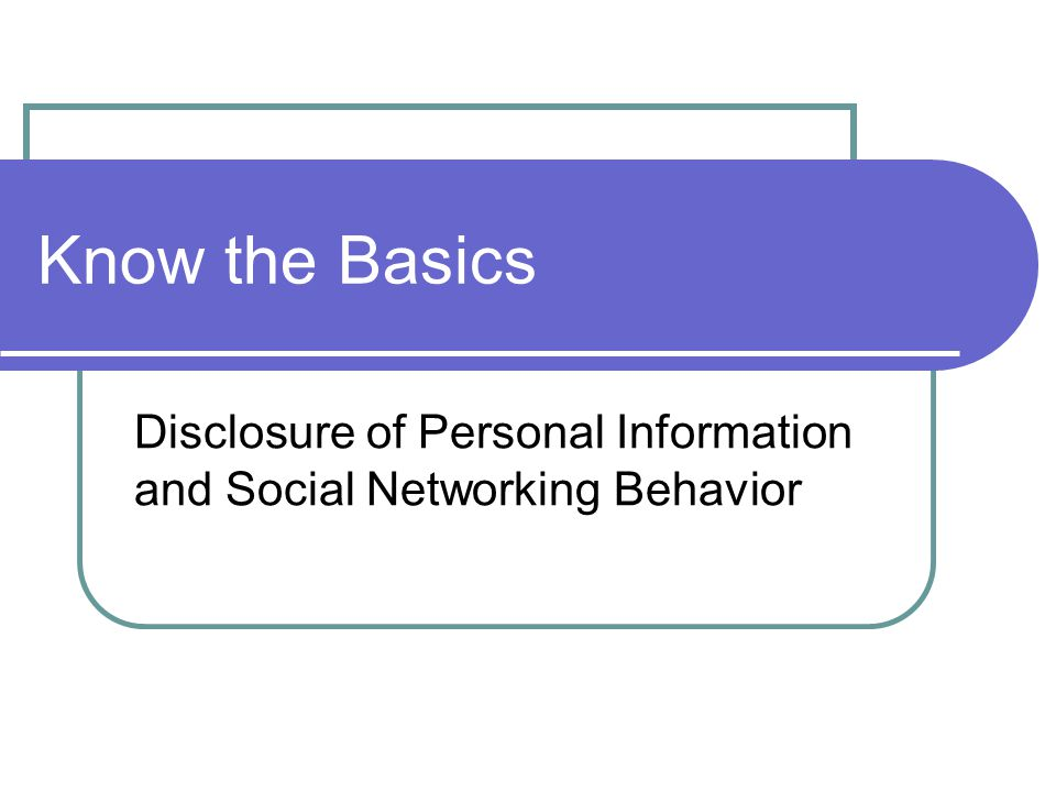 how to avoid disclosure of personal information in a research