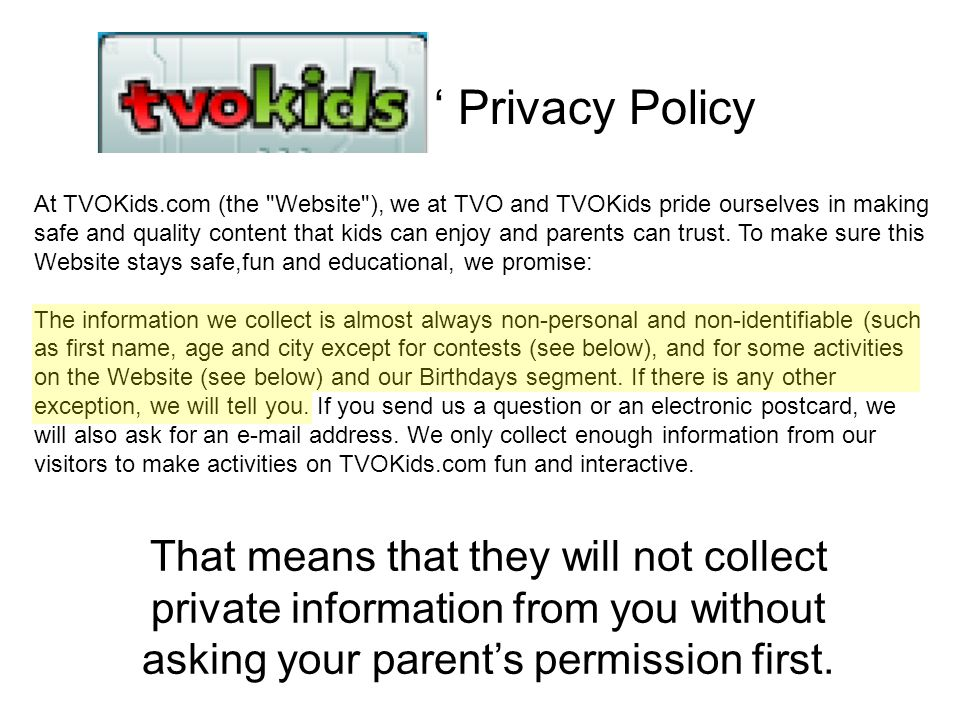 ' Privacy Policy