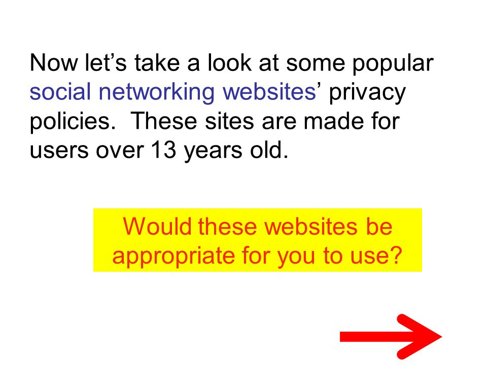 Would these websites be appropriate for you to use