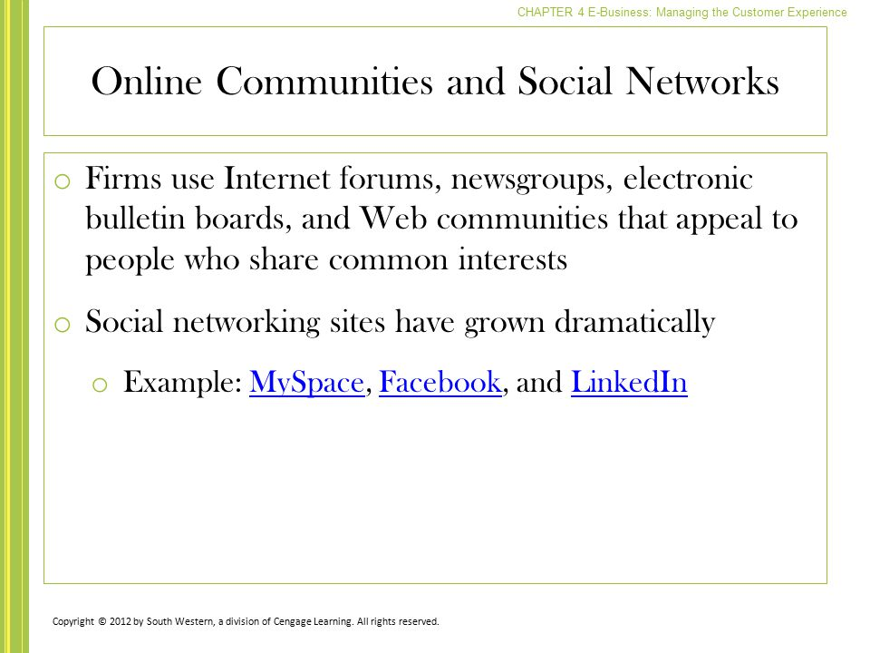 Online Communities and Social Networks