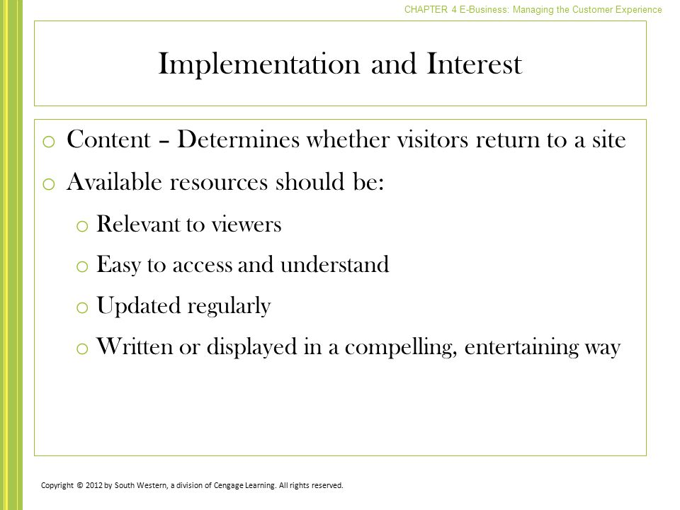Implementation and Interest