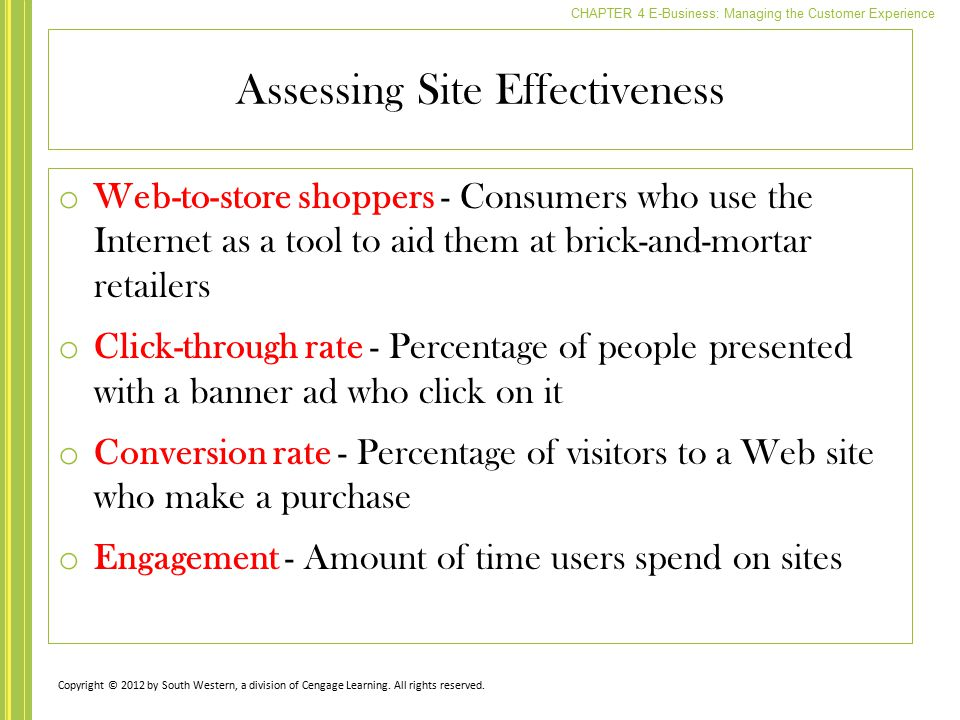 Assessing Site Effectiveness