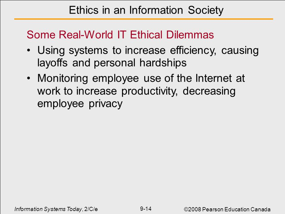 ethics related to information systems Understanding ethical and social issues related to systems • ethics •principles of right and wrong that individuals, acting as free moral agents, use to make choices to guide their  chapter 4 ethical and social issues in information systems the moral dimensions of information systems.