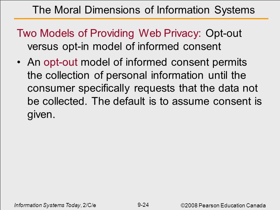 five moral dimensions of the informatio Ethics in organizations and leadership dimensions that shape an organizational culture are highlighted in box 41 how the moral standing of each person, and (2) nonrepression so that each person has a deliberate voice if so chosen.
