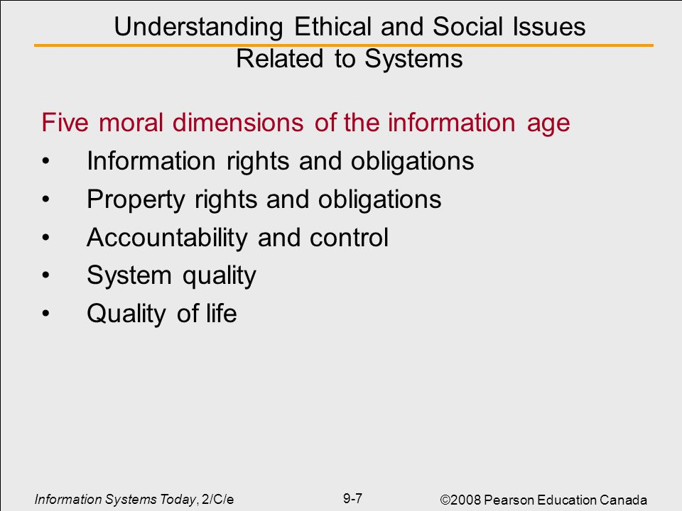 Ethical and social issues of human