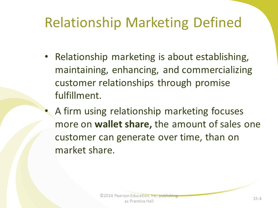 Relationship Marketing Defined