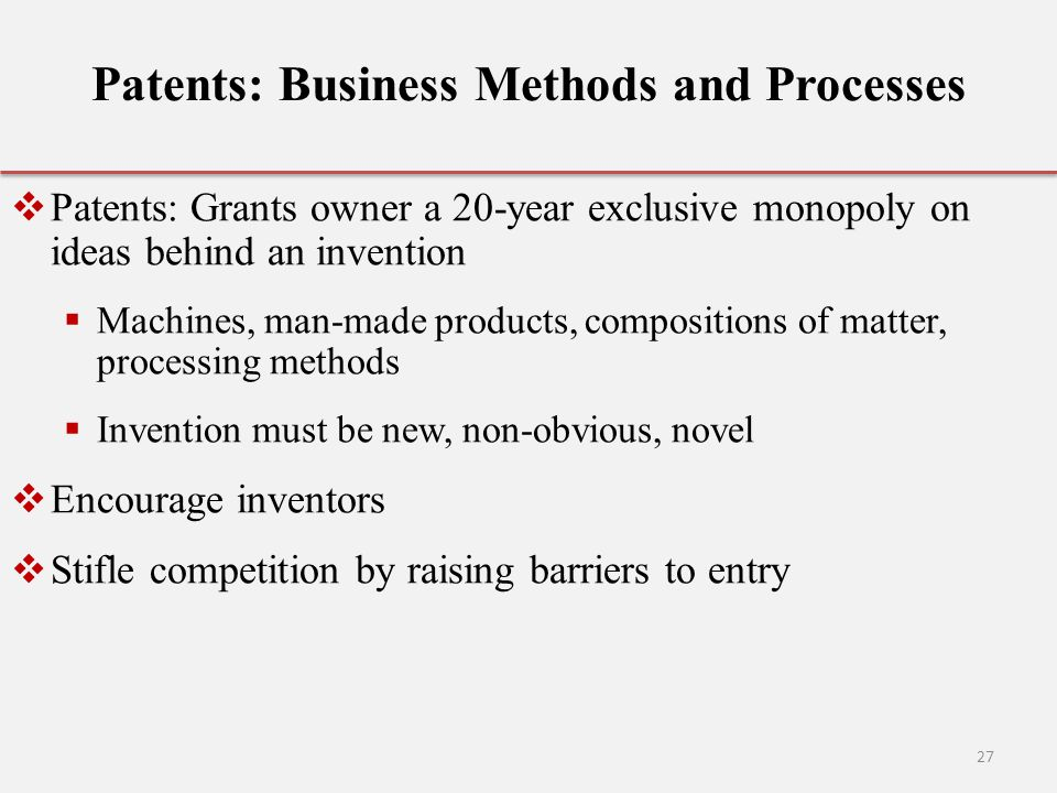 Patents: Business Methods and Processes