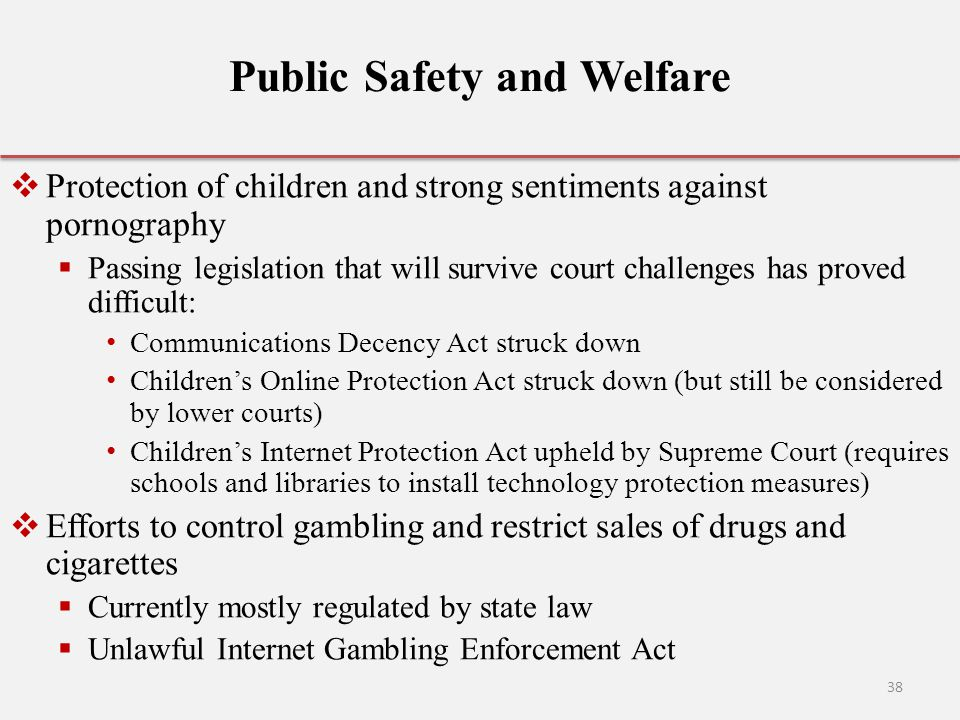 Public Safety and Welfare