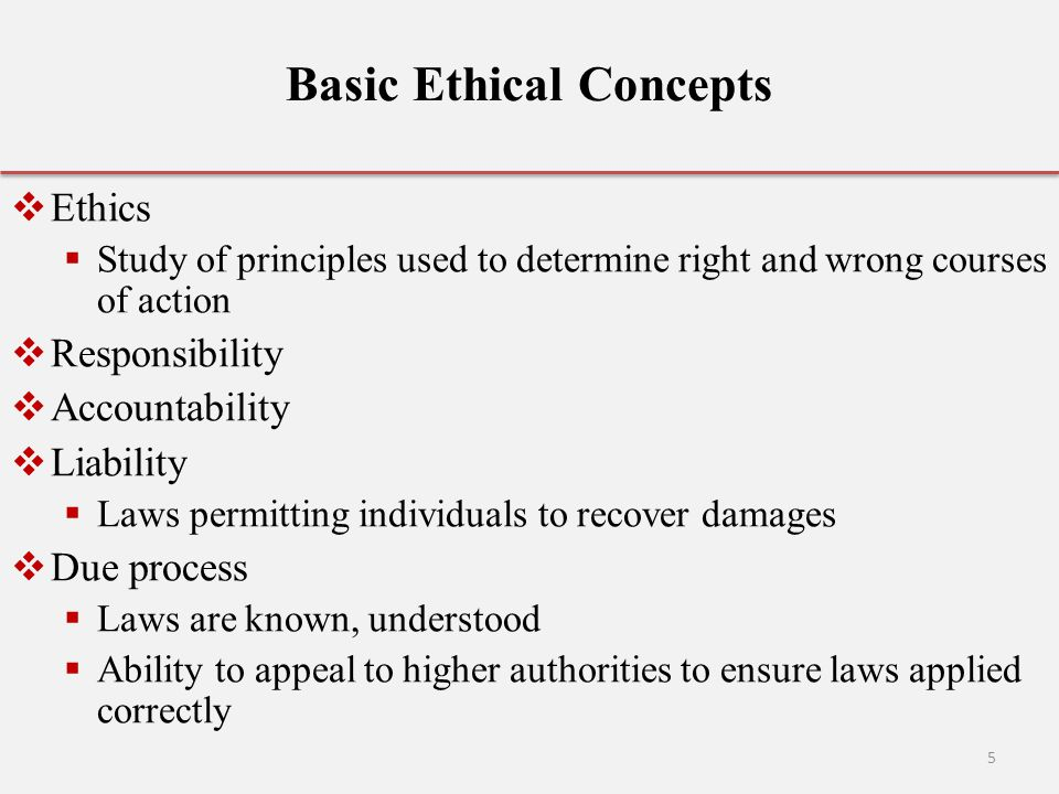 Basic Ethical Concepts