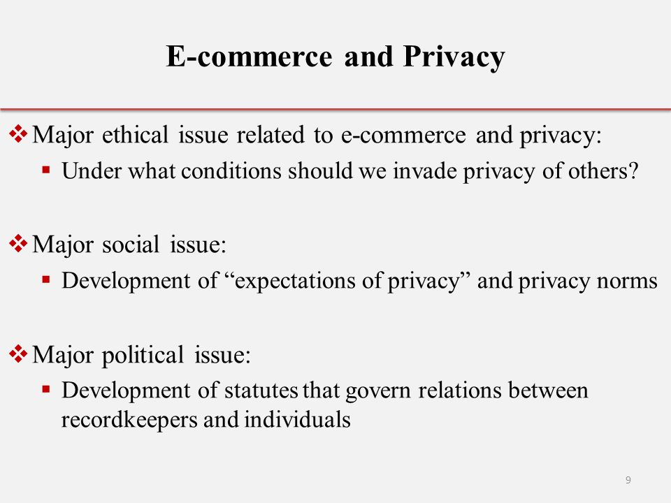 E-commerce and Privacy