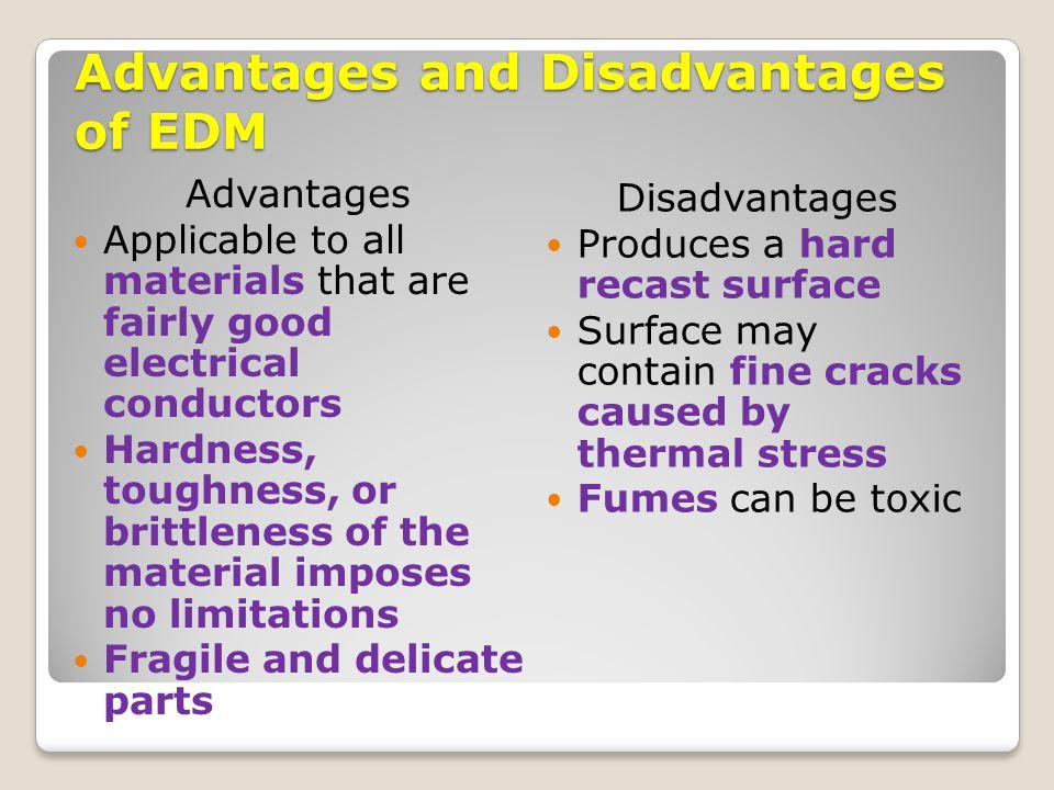 Advantages and Disadvantages of EDM