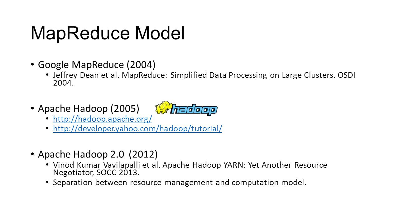 A brief introduction of existing big data tools ppt video online mapreduce model google mapreduce 2004 apache hadoop 2005 baditri Gallery