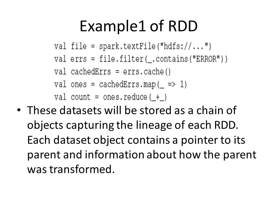 Example1 of RDD