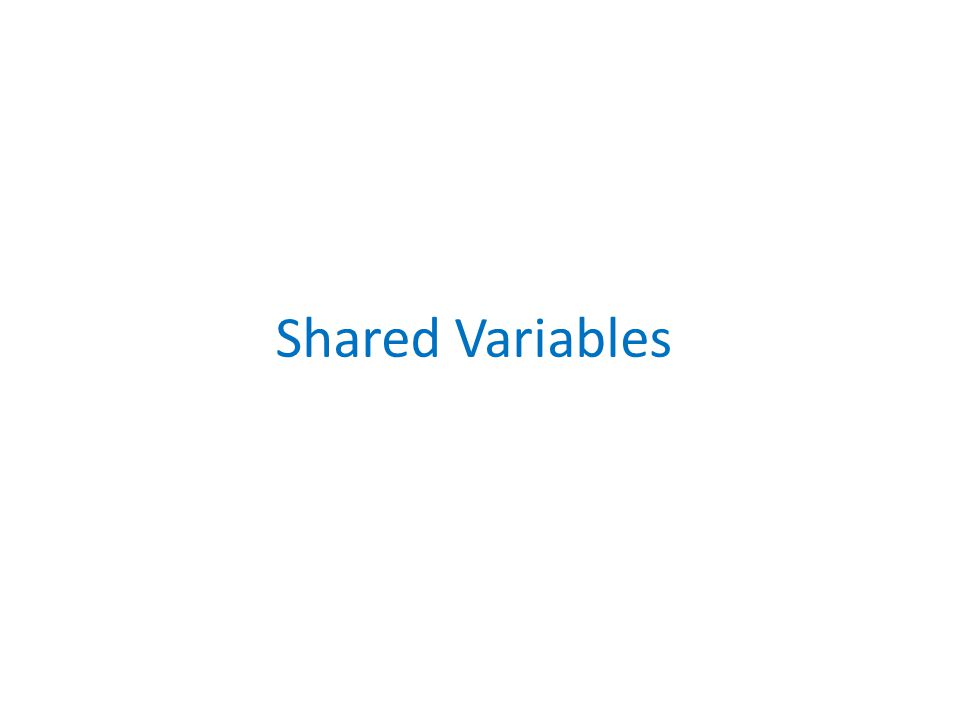 Shared Variables