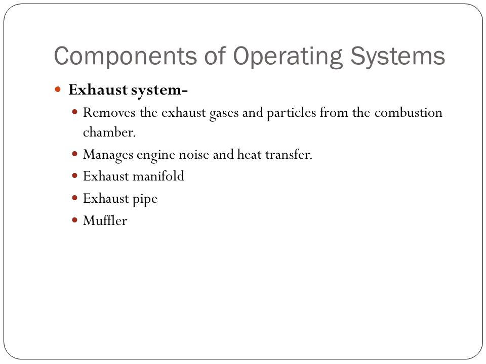 Components of Operating Systems