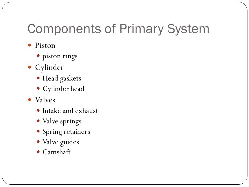 Components of Primary System