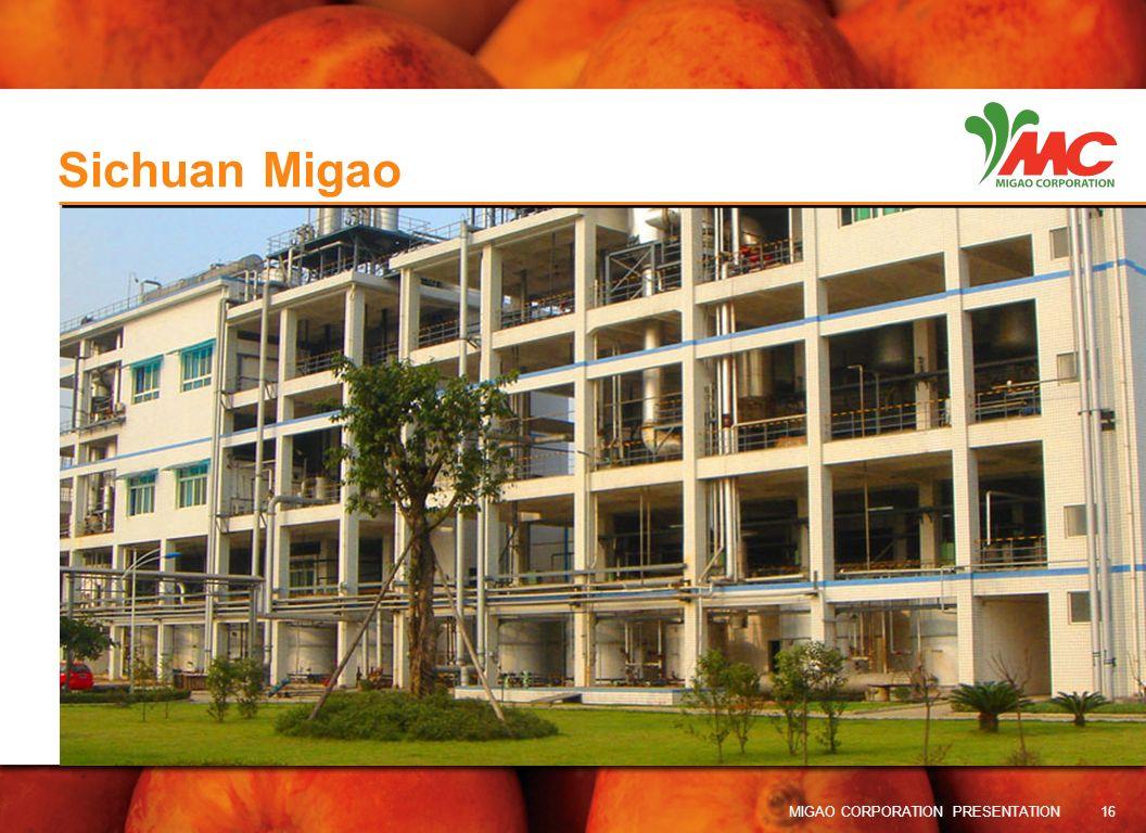 Sichuan Migao MIGAO CORPORATION PRESENTATION 16 16
