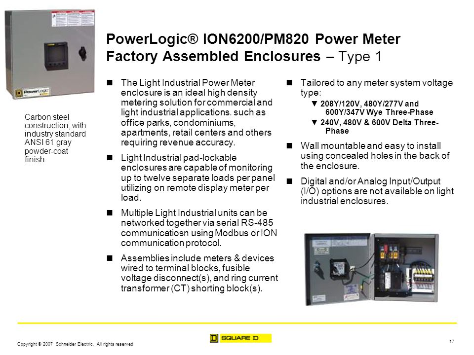 Powerlogic Energy Meter : Powerlogic factory assembled enclosures ppt download