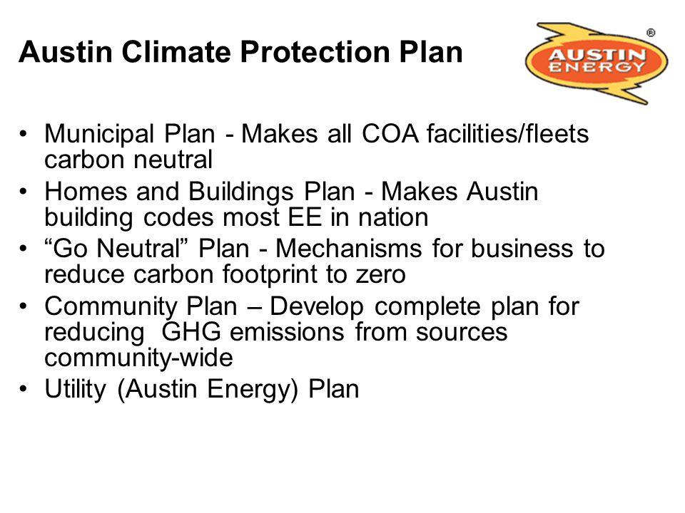 Austin Climate Protection Plan