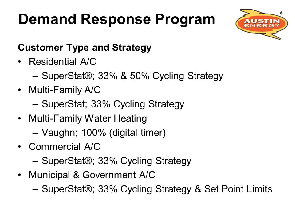 Demand Response Program
