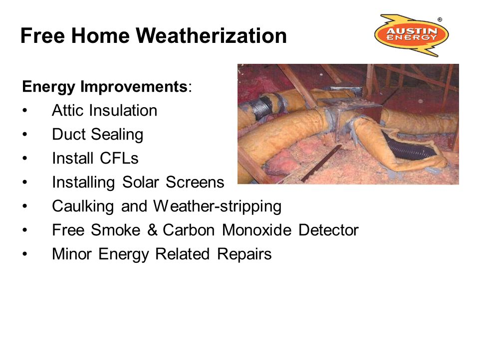 Free Home Weatherization