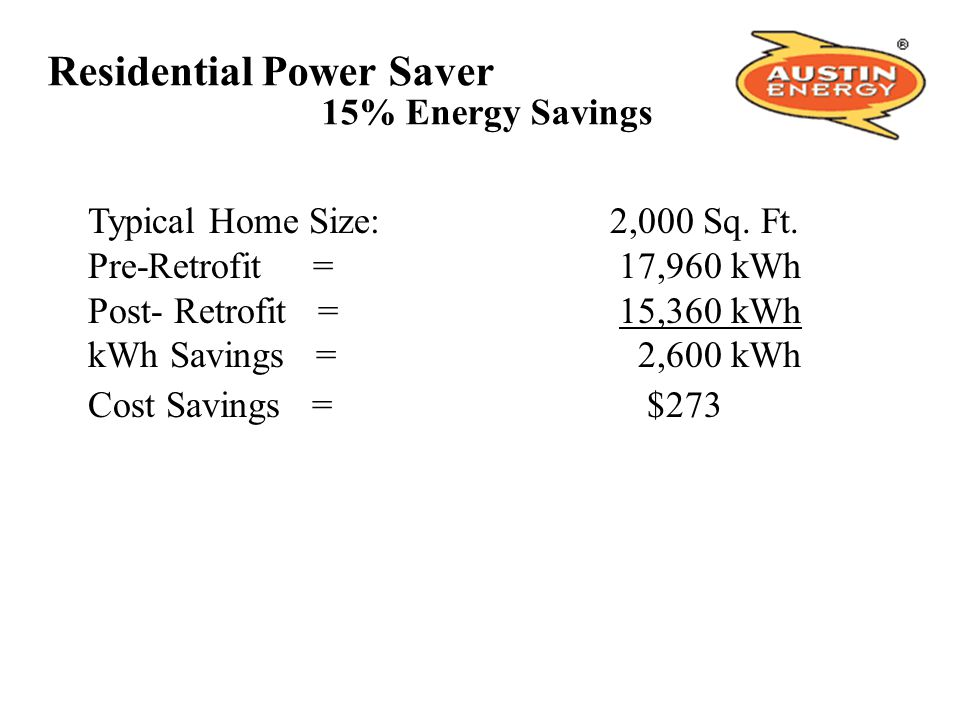 Residential Power Saver