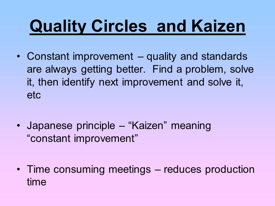 kaizen quality control technique Quality control in manufacturing can be a little tricky often,  learn more about kaizen and how it can help improve quality with this helpful video.