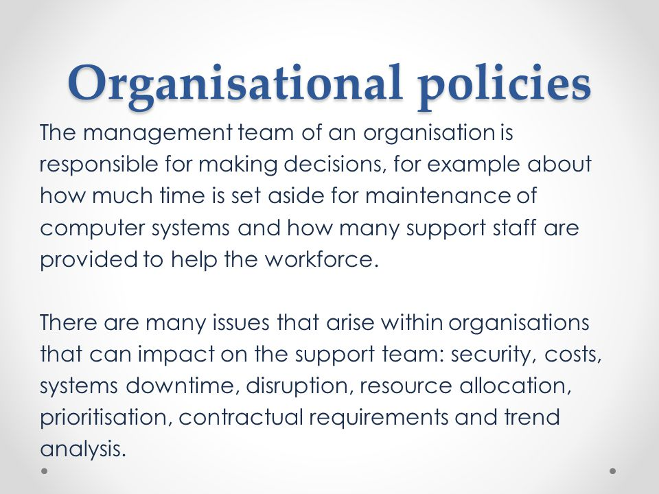 Organisational Policies Ppt Download