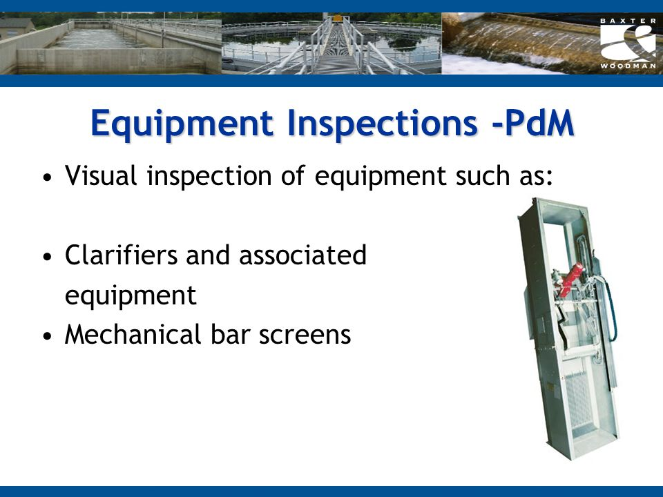 Equipment Inspections -PdM