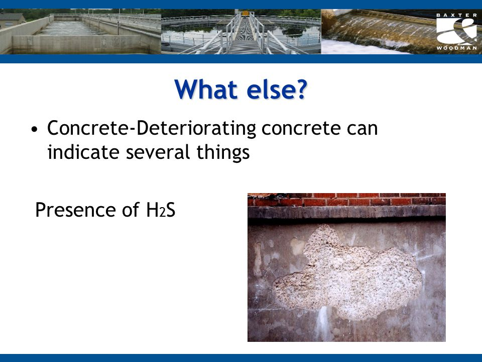 What else Concrete-Deteriorating concrete can indicate several things