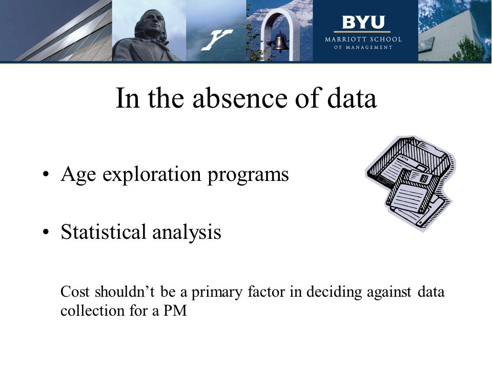 In the absence of data Age exploration programs Statistical analysis