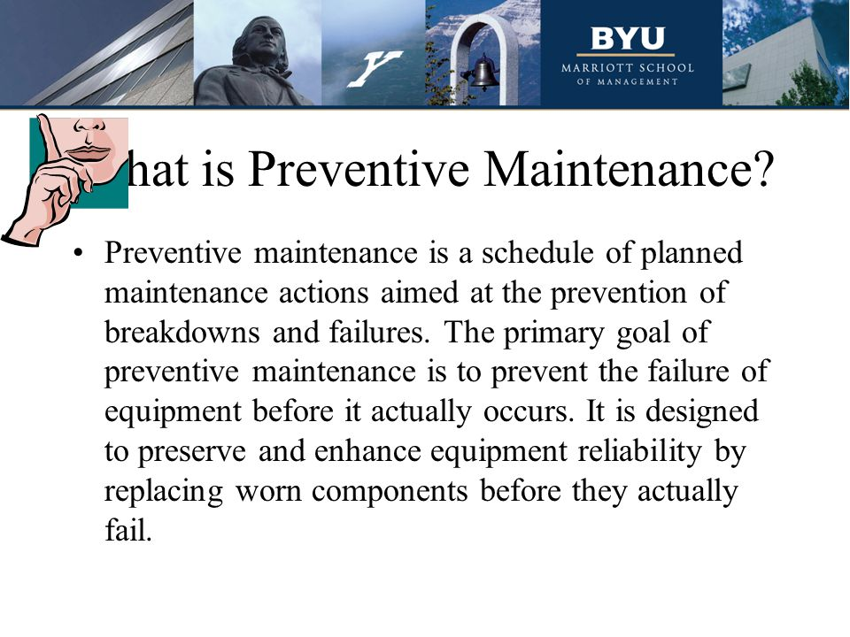 What is Preventive Maintenance
