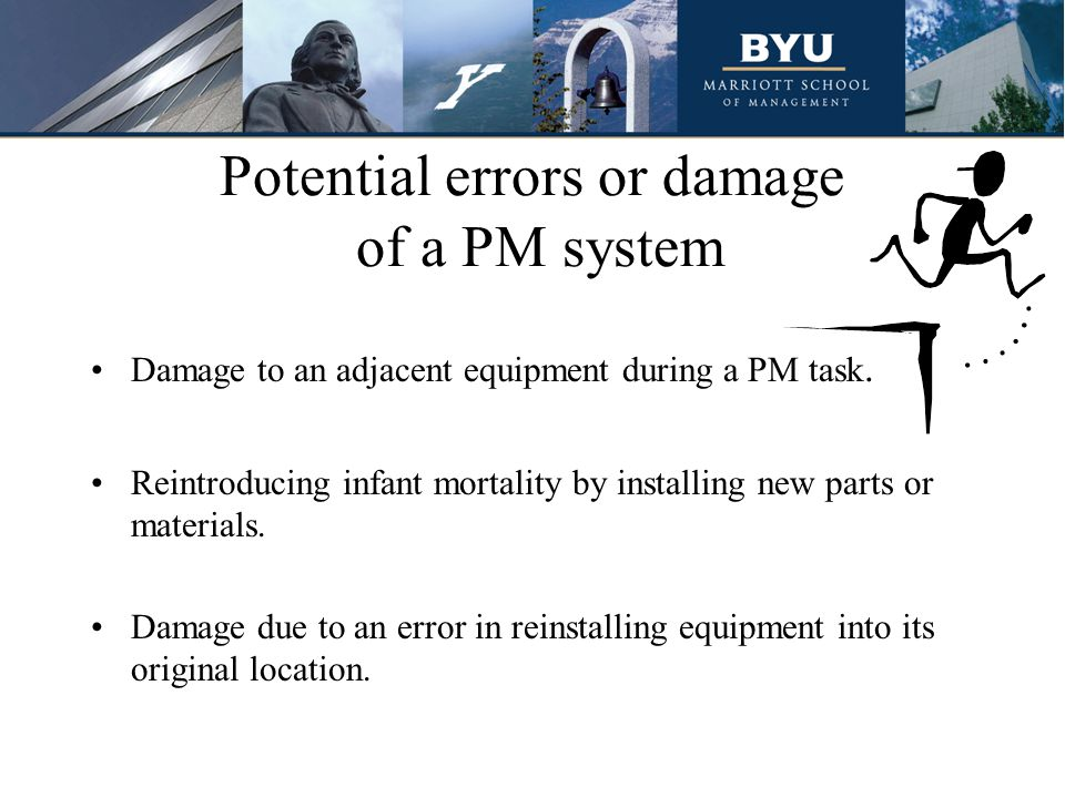 Potential errors or damage of a PM system