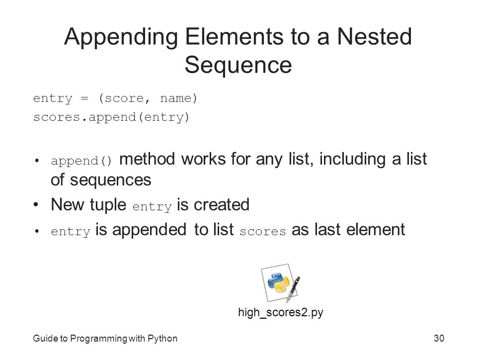 append elements to list in python