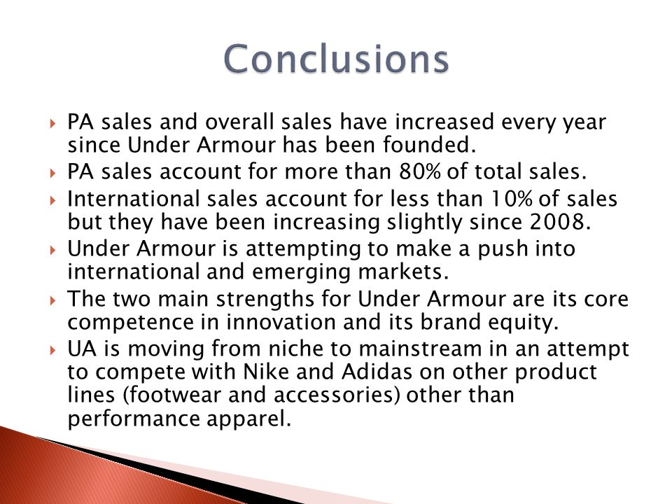 under armour group sales