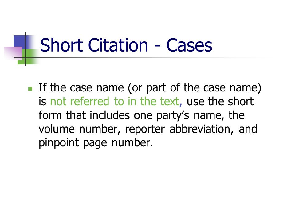 Integrating Citations into Memos - ppt download