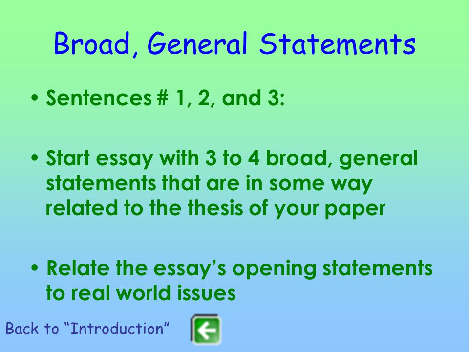 broad statements for essays Below is a pdf link to personal statements and application essays representing strong efforts by students applying for both undergraduate and graduate opportunities.