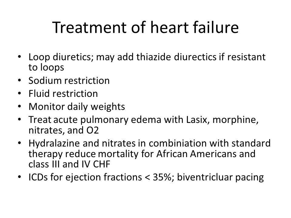 Treatment Of Heart Failure With Lasix