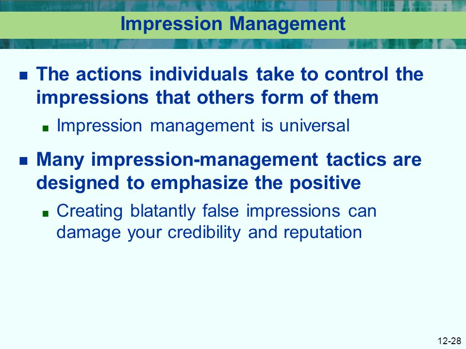 reputation image and impression management pdf