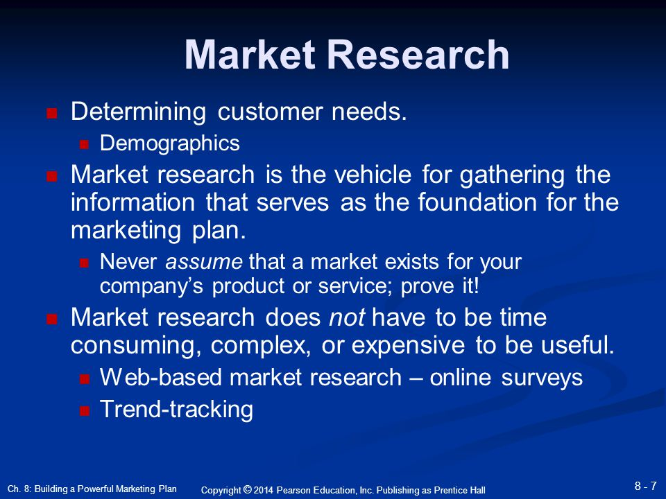 market research needs Need and importance of marketing research the most important task of a marketer is to get the right product at the right place with the right price to the right person besides, it was also necessary to go back and find whether consumer is getting optimum satisfaction, so that consumer remains loyal.