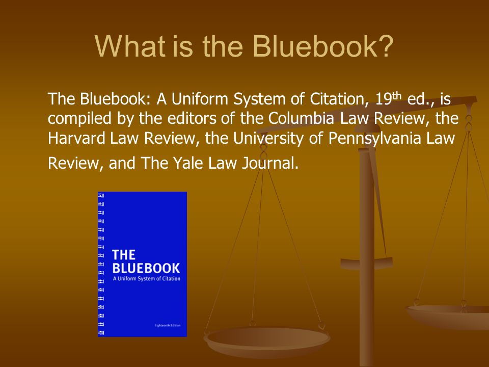 bluebook citation for american law reports Legal research and citation style american law reports, abbreviated manual for legal citations in the usa is the bluebook: a uniform system of citation.