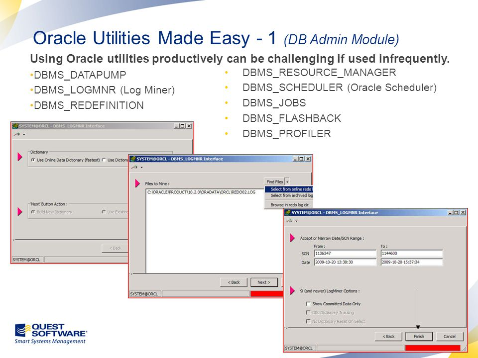 Oracle Utilities Made Easy - 2 (DB Admin Module)