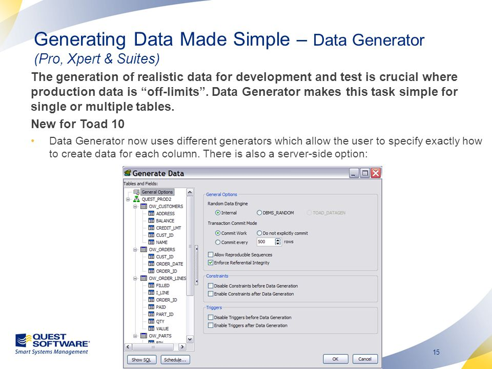Generating Data Made Simple – Data Generator